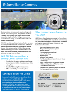 cloud IP surveillance camera system brochure for businesses in Washington DC