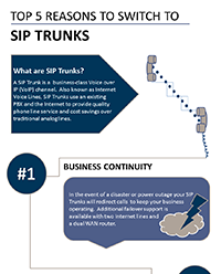 5 benefits of SIP Trunking infographic