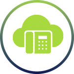 icon of voip, cloud, hosted phone system