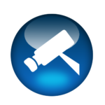 Bullet surveillance camera icon