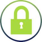 Green Lock Security Icon