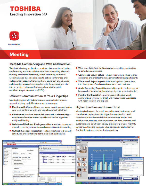 Toshiba Meeting Web Collaboration Solutions Md Dc Va