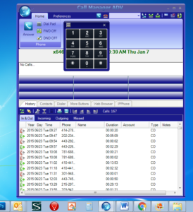 Screen shot of Toshiba Call Manager for Toshiba Phone Systems
