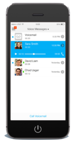 cisco jabber visual voicemail screen shot on iphone