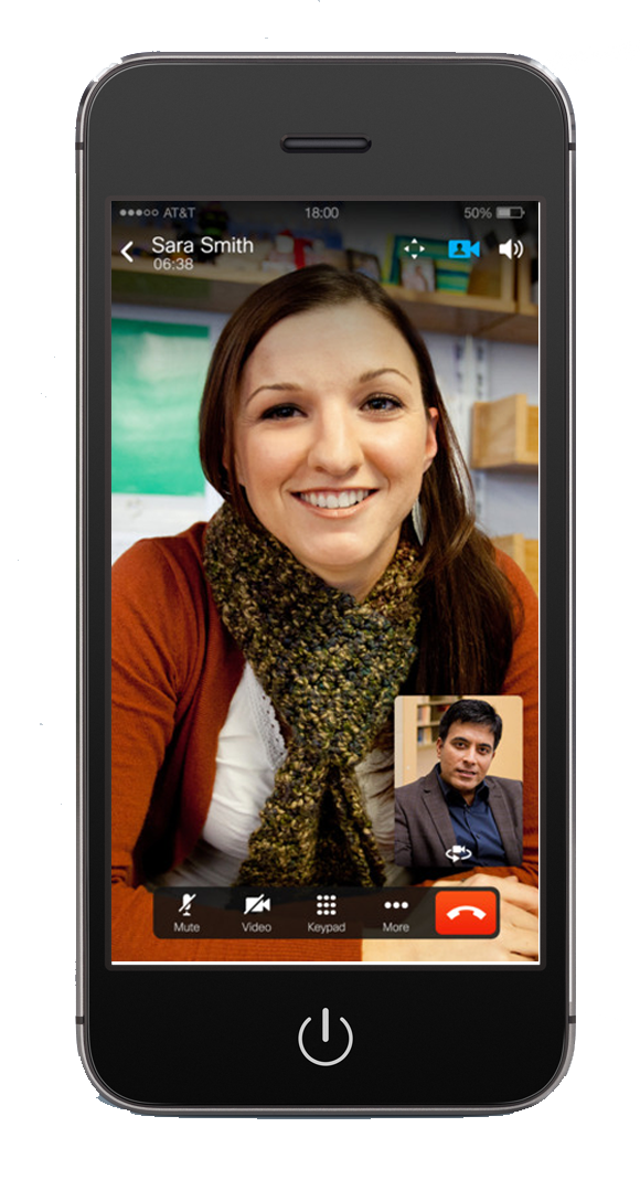cisco mobile application with video conferencing screen shot on smartphone