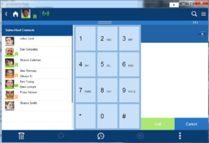 Toshiba UCedge mobile app softphone on tablet