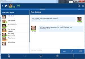 Toshiba UCedge instant messaging on desktop screen shot