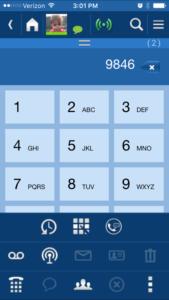 UCedge mobile application softphone on smartphone