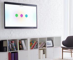 The Cisco Spark Board is an all-in-one meeting room product with a 4K wireless presentation display, a shared digital whiteboard, and a next generation video conferencing system.