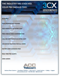 3CX IP Phone System feature reference guide/short brochure