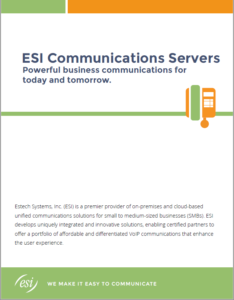 ESI Business phone system brochure