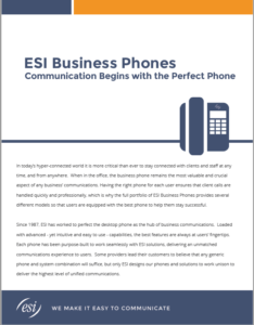 ESI Business Phones Brochure