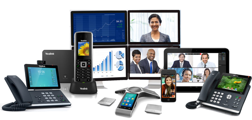 Telecommunications products and services including IP phones, conference room phone, video conferencing services, cordless SIP phones.