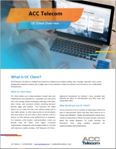 Unified Communications (UC) Client for Cloud Phone Systems brochure thumbnail