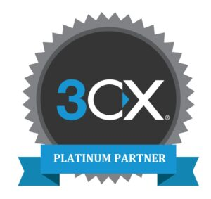 3CX PBX System Platinum Partner Badge