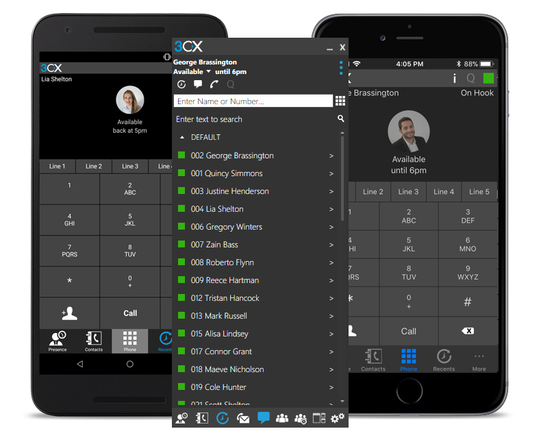 3CX PBX system Mobile Apps for iOS, Android, & Windows