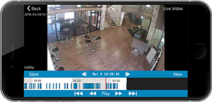 Real-time Analog and IP Camera analytics including motion detection capture and pause and play from iOS mobile device in Washington DC