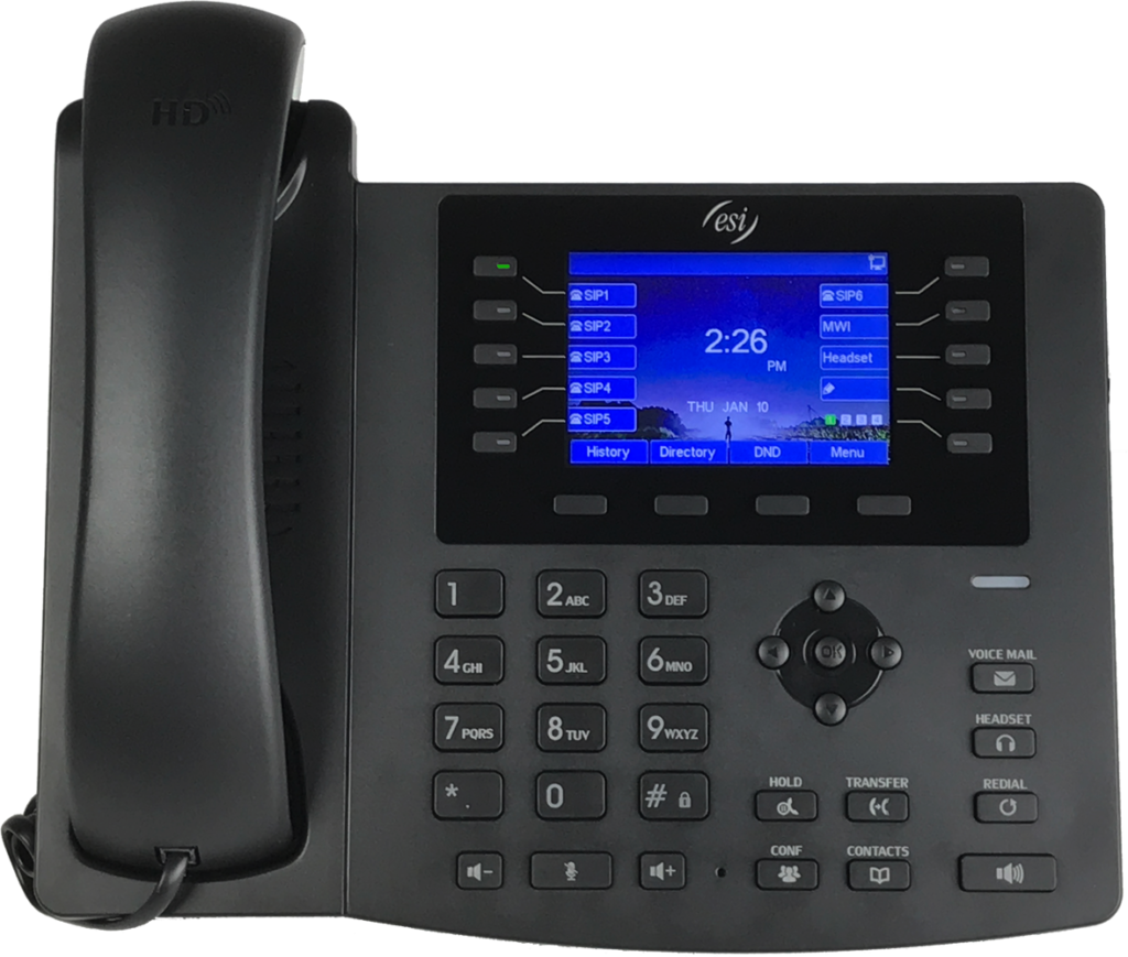 ESI eSIP 4x phone for ESI business phone systems in Maryland, Washington DC, and Northern VA.