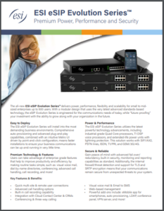ESI eSIP Evolution series business phone system for small to medium sized companies in Maryland, Washington DC, and Northern Virginia.