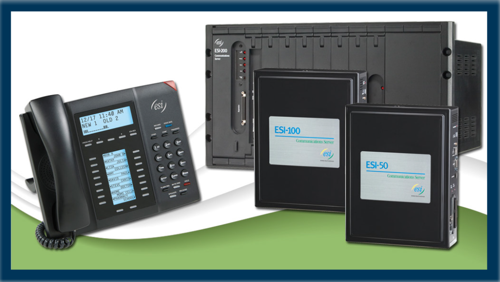 ESI Digital Business Communication System 50 & 100 models with ESI phone.