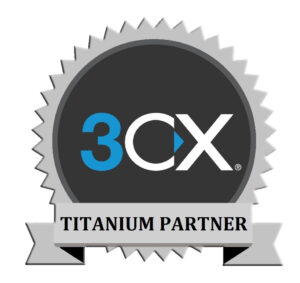 3CX PBX System Titanium Partner Badge