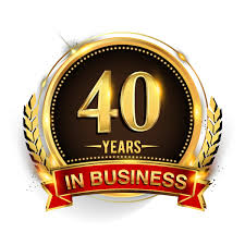 40 years in business badge
