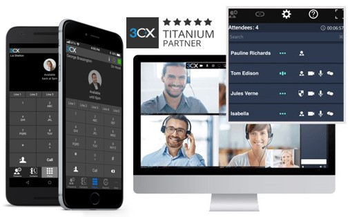 3CX mobile apps and 3CX WebMeeting